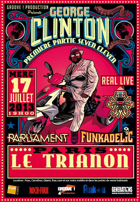 Poster P-Funk-party-Le-Trianon-July-17th-2013