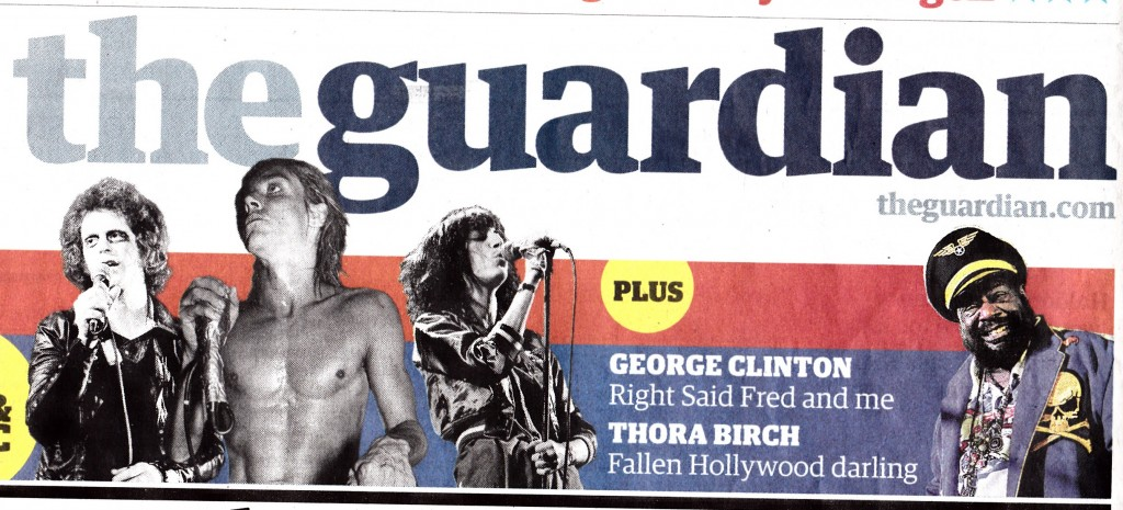 Guardian frontpage Clinton and Right Said Fred - kopie