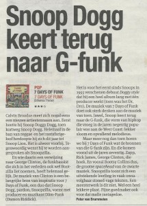 Parool over 7 days of Funk - Snoop Dogg 2-1-2014