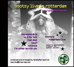 Bootsy Live in Rotterdam handieMix  (cd-cover)