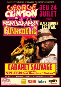 George Clinton in Paris 24 juli 2014