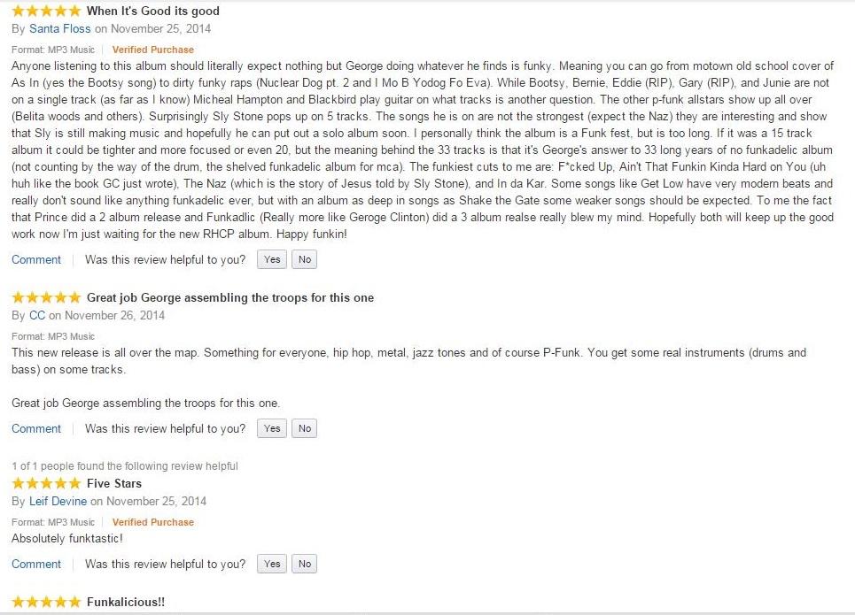 First reviews Funkadelic on Amazon