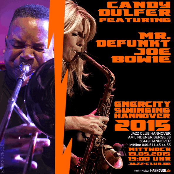 Joe Bowie & Candy Dulfer in Hannover