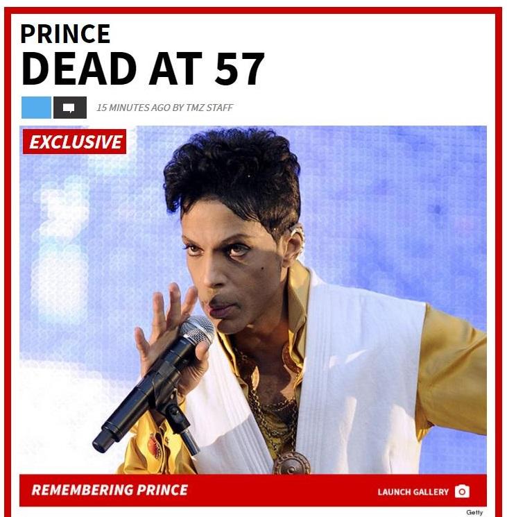 TMZ Meldt: Prince Overleden