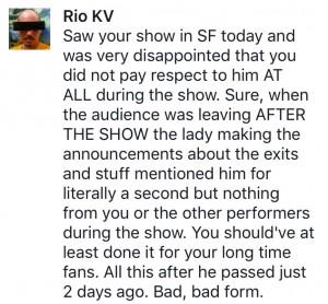 Rio KV reactie op GC statement