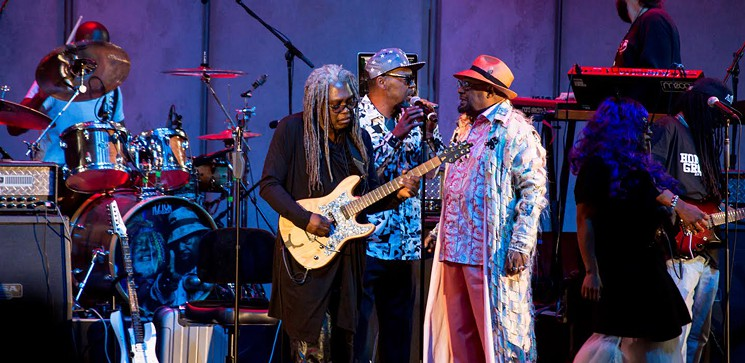 George Clinton at Brainfeeder event Hollywood Bowl