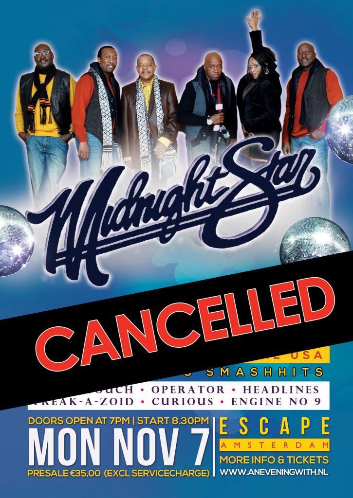 Midnight Star optreden 7-11 gecanceled